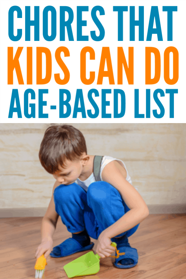 Chores that Kids Can Do - Printable age-based list #chores #parenting #cleaning #housewifehowtos