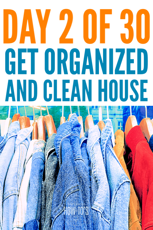 Get an Organized and Clean House - Day Two - The Coat Closet #cleaning #declutter #getorganized #cluttercontrol