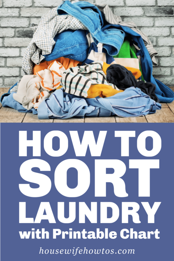 How to Sort Laundry with Printable Chart