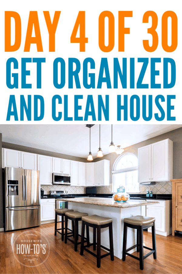 Get an Organized and Clean House - Day 4 - The kitchen cupboards. #cleaning #getorganized #declutter #cluttercontrol