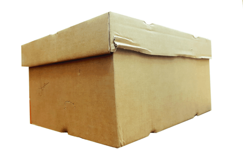 Cardboard box with a lid