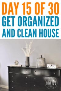 Organizing Dressers - Day 15