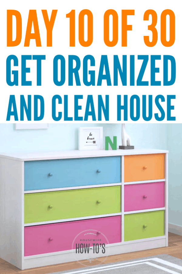 Organizing Kids' Dressers #getorganized #declutter #homeorganization #cleaning