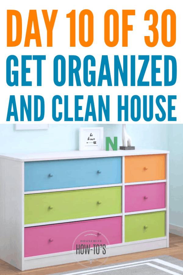 Organizing Kid Dressers #getorganized #declutter #homeorganization #cleaning