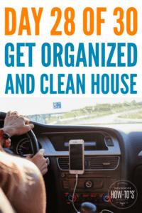 Organizing Your Car - Beat the clutter but keep the essentials #getorganized #homeorganization #declutter #cluttercontrol