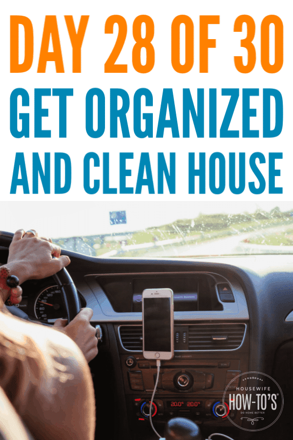 Organizing Your Car - Day 28 » Housewife How-Tos®