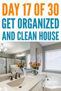 Organizing the Master Bathroom - Day 17 of the Home Organizing Series #bathroomorganization #getorganized #declutter #cluttercontrol #homeorganization