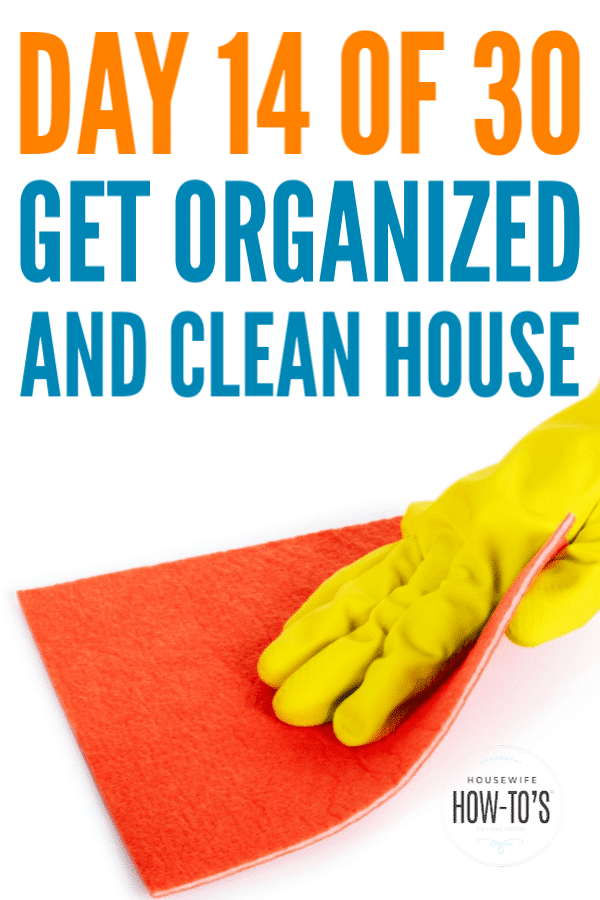 Get an Organized and Clean House in 30 Days - Day 14 #cleaning