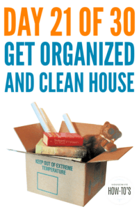 Weekly Cleaning and Catch-Up - Day 21 of this free 30-day home organizing series ensures you're caught up on housekeeping matters. #cleaning