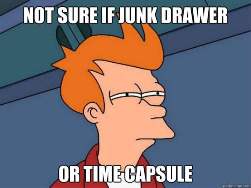 Junk drawer meme