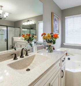organizing the master bathroom