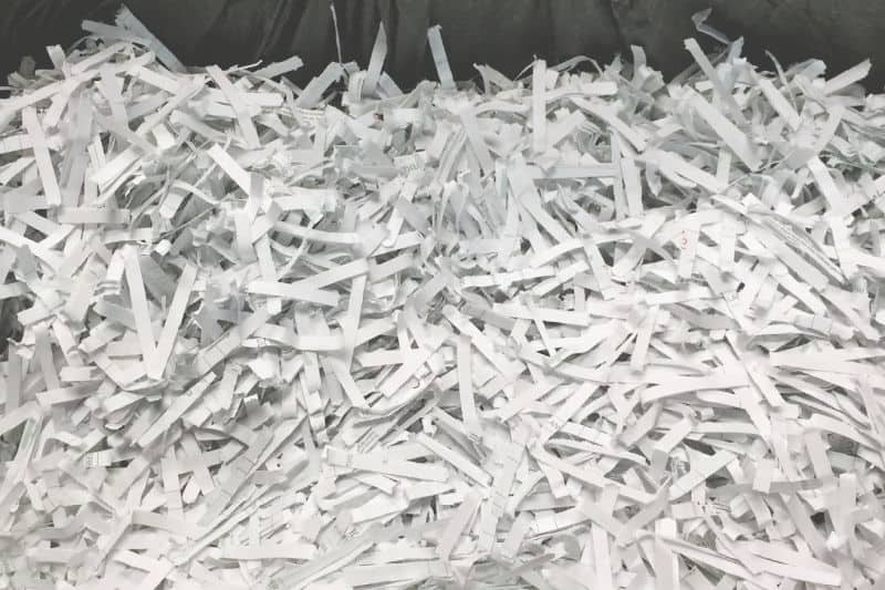 Organizing paperwork - Shredded pieces of paper