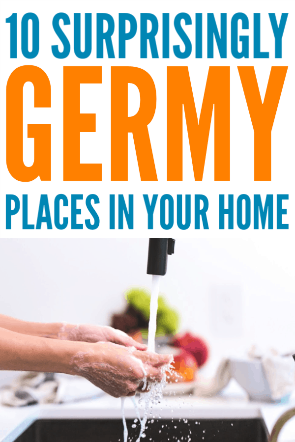 10 Germy Places in Your Home - Cleaning these spots is important! #cleaning #housewifehowtos