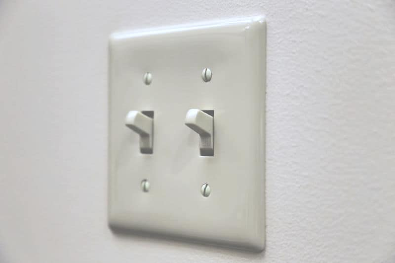 Germy places in your home - dual light switch on wall