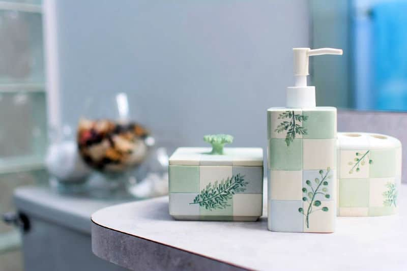 Germy places in your home - bathroom accessories on a vanity