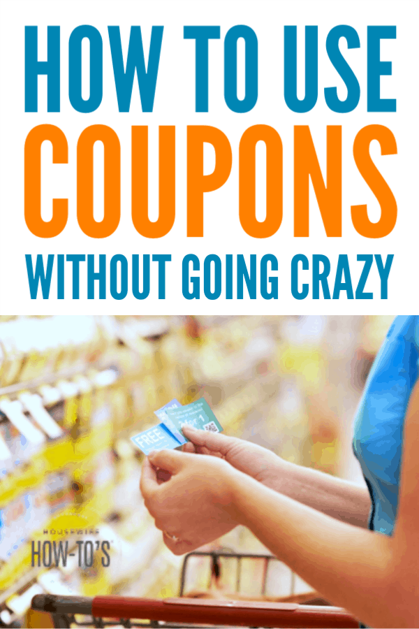 How to Use Coupons Without Going Crazy - Six steps to efficiently use coupons to save money on your weekly grocery shopping #couponing #savingmoney #housewifehowtos