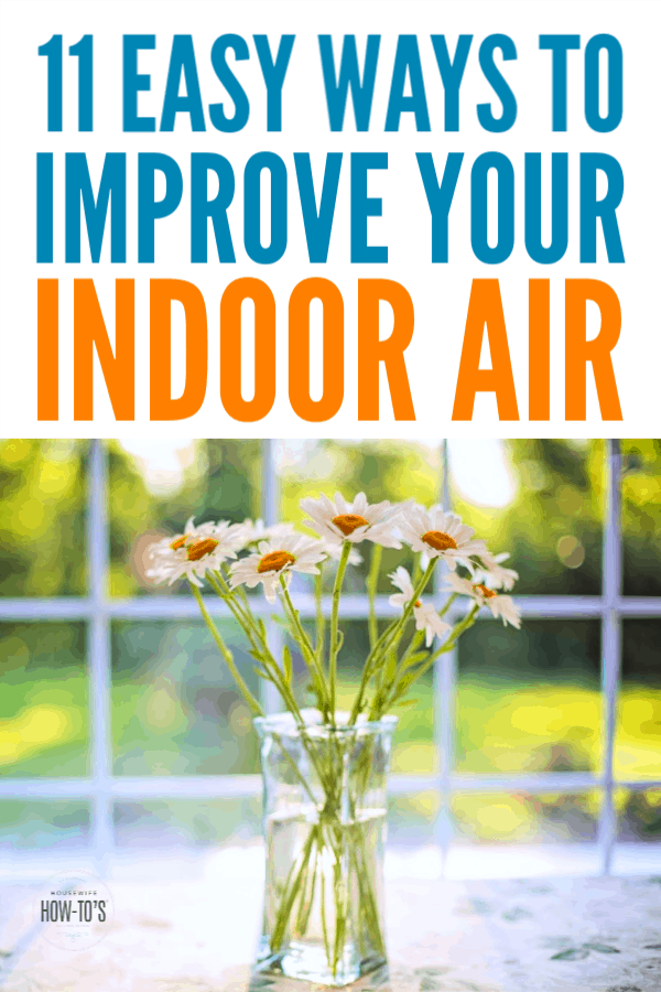How to Improve Indoor Air Quality - 11 easy tips to keep your home's air healthy #allergies #cleaning #housewifehowtos