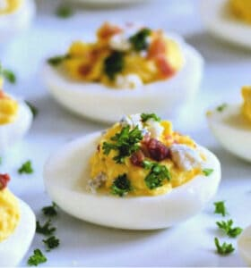 Bacon Blue Cheese Deviled Eggs Recipe