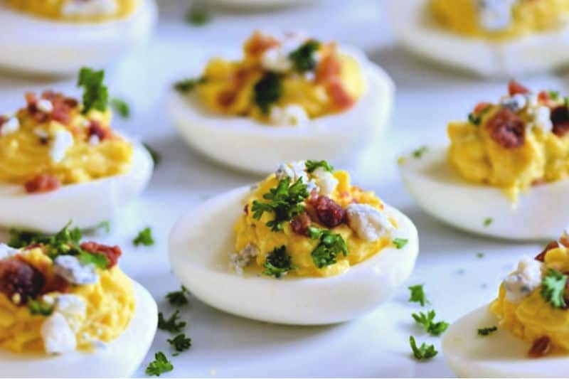 Bacon Blue Cheese Deviled Eggs Recipe