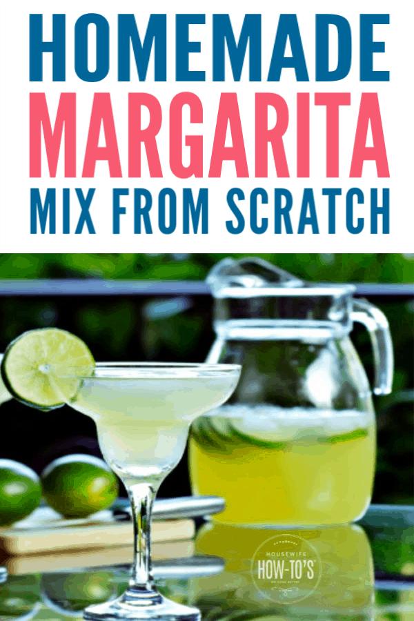 Homemade Margarita Mix from Scratch