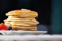 Stack of pancakes made with homemade pancake mix