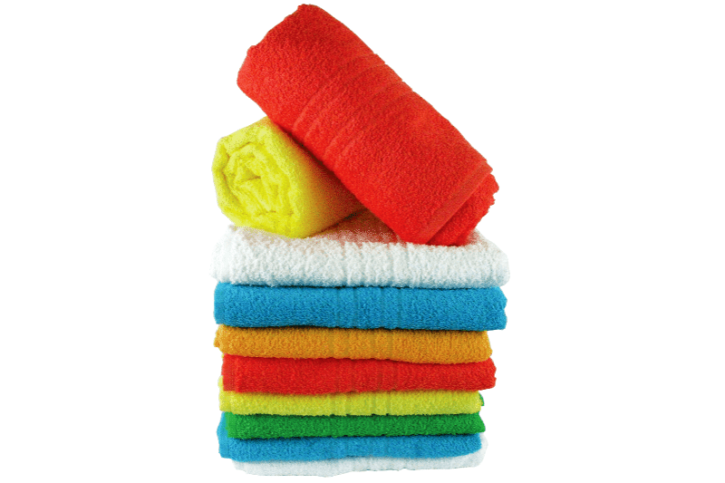 Stack of colorful folded towels