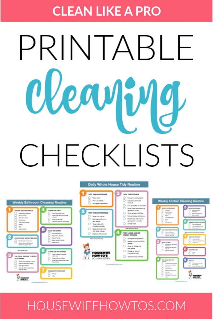 Clean like a Pro with Printable Cleaning Checklists