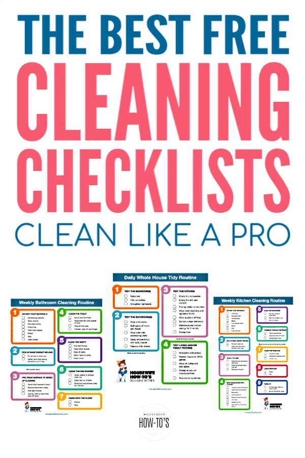 photo regarding House Cleaning Checklist Printable identified as Cleansing Checklists - Absolutely free Printable Household Cleansing Exercises