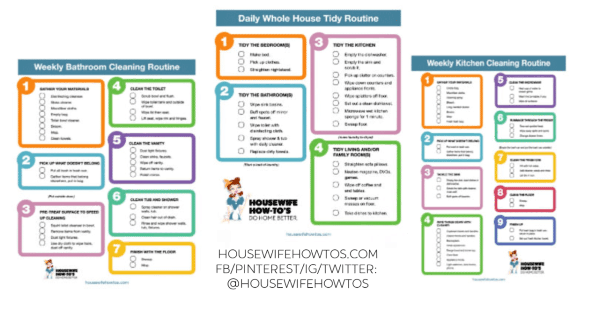 picture about House Cleaning Checklist Printable referred to as Cleansing Checklists - Free of charge Printable House Cleansing Exercises