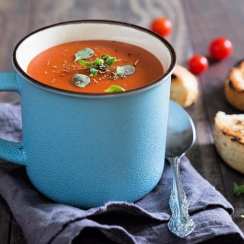 Easy tomato soup recipe in a mug