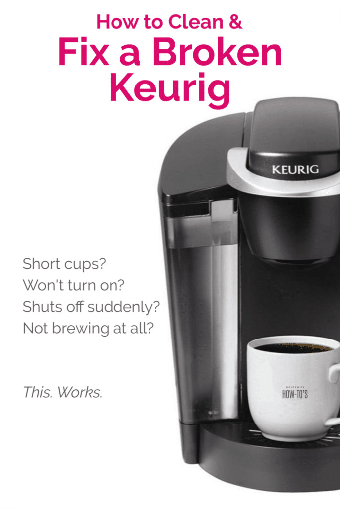 How to Clean and Fix a Broken Keurig