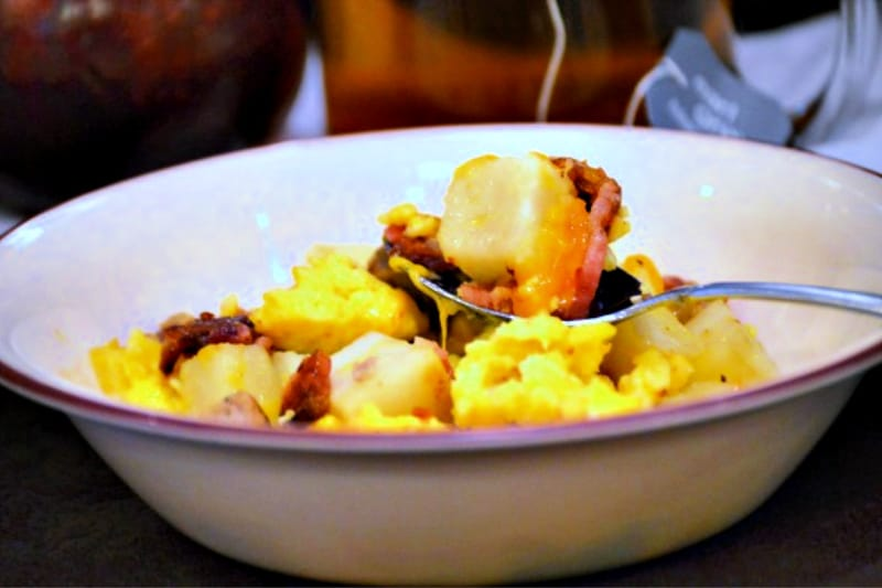 Hot breakfast bowl Jimmy Dean Copycat recipe