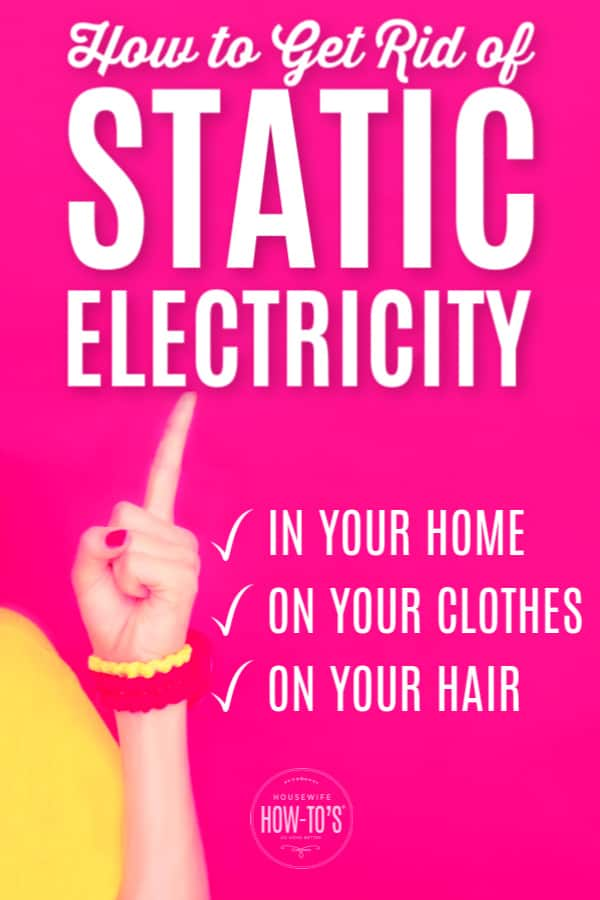 How to Control Static Electricity in Your Home - How To Get Rid Of Static Electricity On Couch