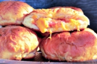 Pizza-Stuffed Pretzel Buns