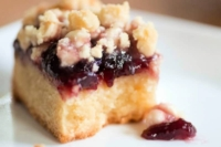 Raspberry White Chocolate Cookie Bar on a serving plate