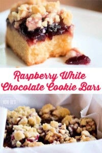 Raspberry White Chocolate Cookie Bars