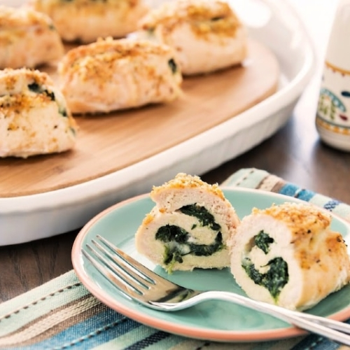 Stuffed Chicken and Spinach Roulades