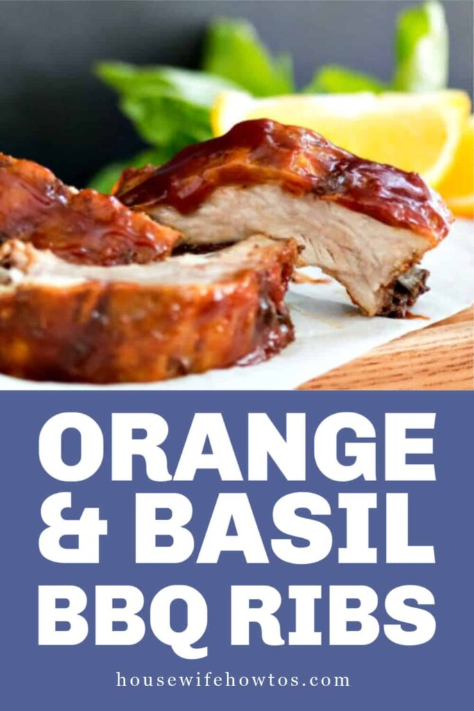 Sweet Orange Basil BBQ Sauce Ribs