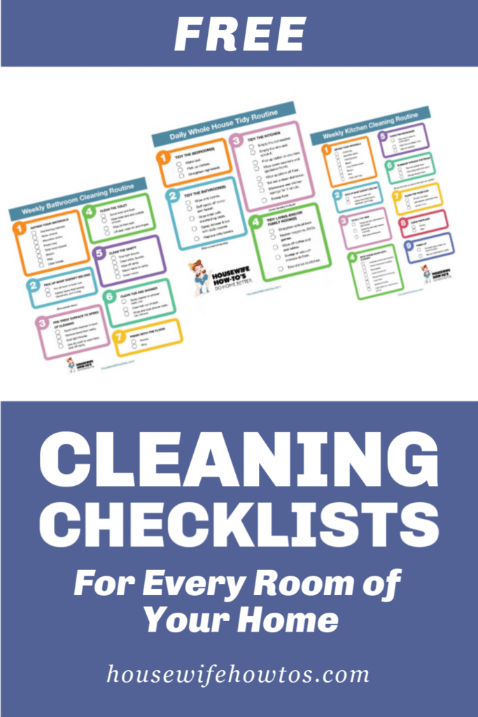 Free House Cleaning Checklists for Every Room of Your Home