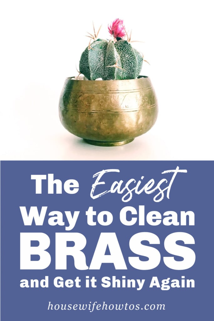 The easiest way to clean brass and get it shiny again