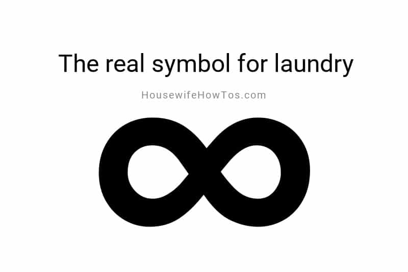 An infinity symbol is the real symbol for laundry