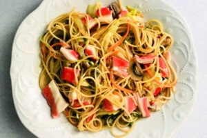 Seafood and Noodles Stir-Fry Recipe