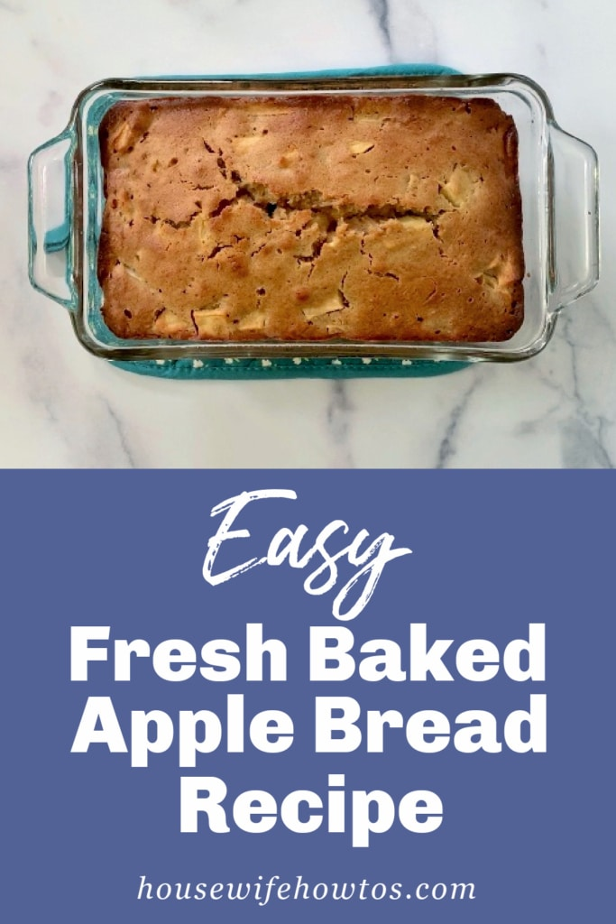 Easy Fresh Baked Apple Bread Recipe and Video