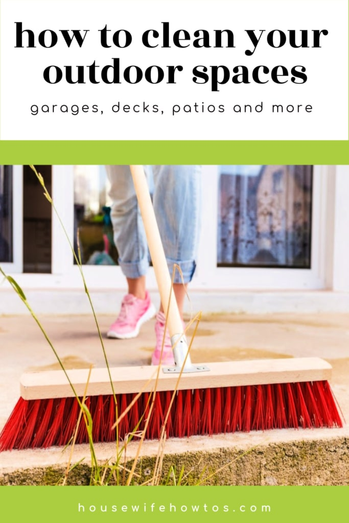 How to Clean Your Home's Outdoor Spaces