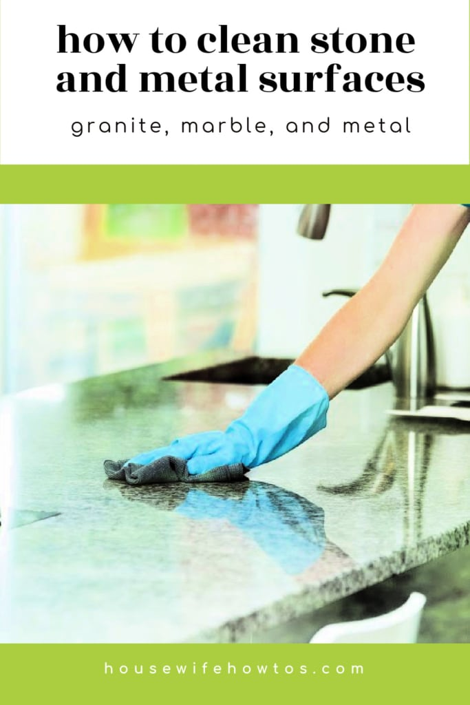 How to Clean Stone and Metal Household Surfaces