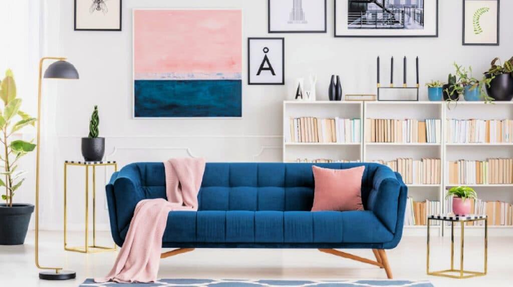 Modern, clean living room