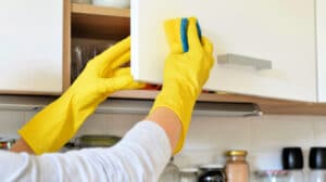 The Best Way to Clean Greasy Kitchen Cabinets