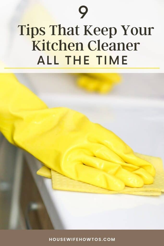 how to keep your kitchen cleaner